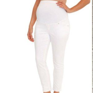 Great Expectations Maternity White jeggings sz M
